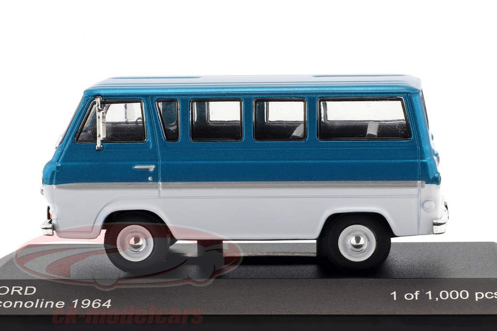 Ford Econoline año de construcción 1964 turquesa metálico / blanco 1:43 WhiteBox