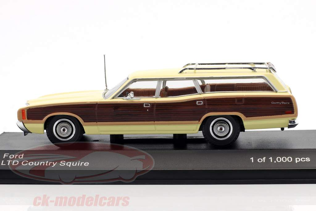 Ford LTD Country Squire year 1972 bright yellow / brown 1:43 WhiteBox