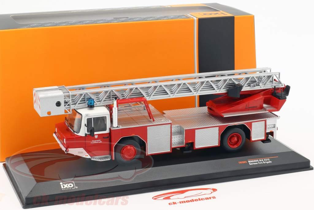 Magirus DLK 2312 bombeiros Frankfurt am Main vermelho 1:43 Ixo