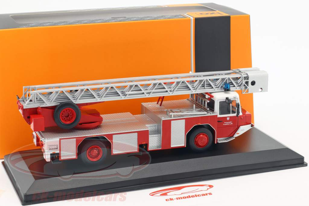 Magirus DLK 2312 fire Department Frankfurt am Main red 1:43 Ixo