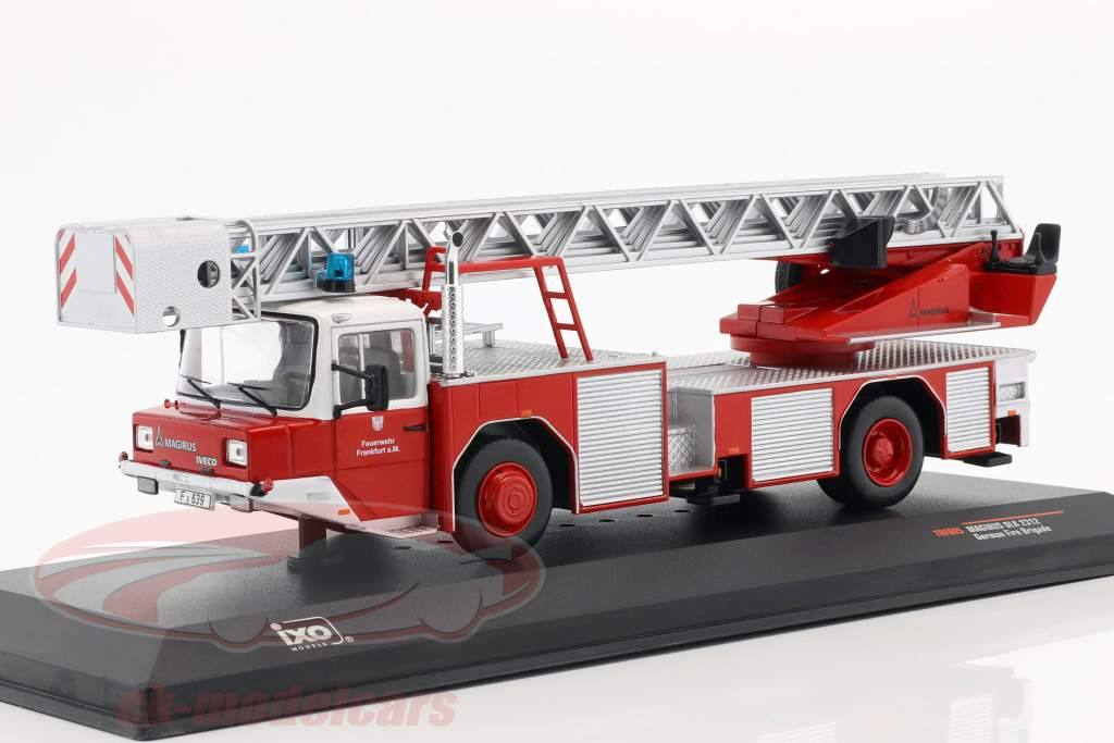 Magirus DLK 2312 pompiers Frankfurt am Main rouge 1:43 Ixo