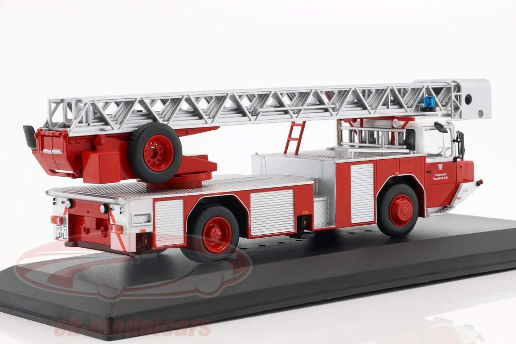 Magirus DLK 2312 brandweer Frankfurt am Main rood 1:43 Ixo