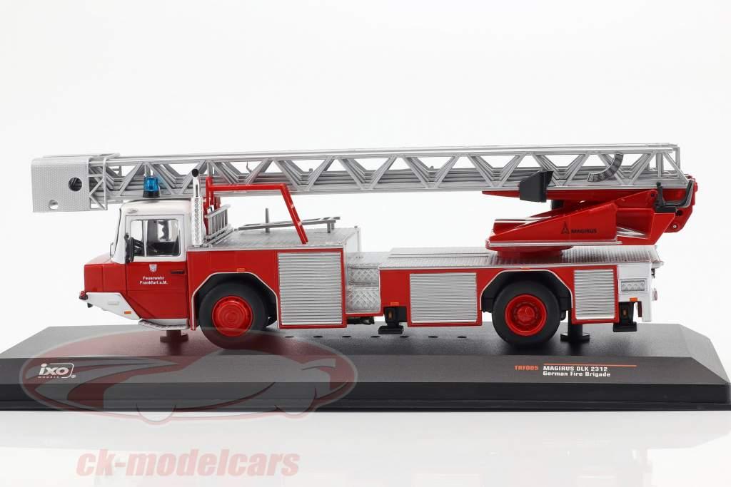 Magirus DLK 2312 vigili del fuoco Frankfurt am Main rosso 1:43 Ixo