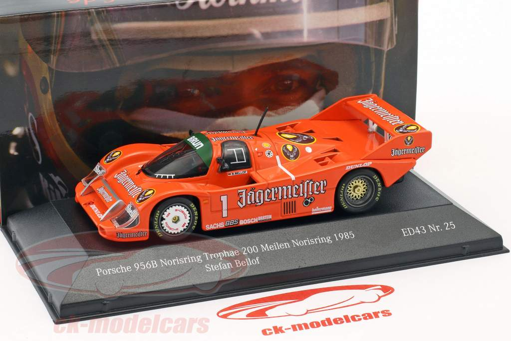 Porsche 956B #1 5th Norisring Trophäe 200 Meilen Norisring 1985 Bellof 1:43 CMR