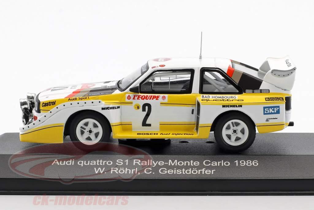 Audi Quattro Sport E2 Night Version 4th Rallye Monte Carlo 1986 Röhrl, Geistdörfer 1:43 CMR