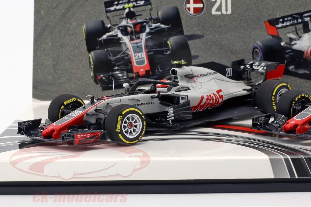 Grosjean #8 & Magnussen #20 2-Car Set Haas VF-18 fórmula 1 2018 1:43 Minichamps