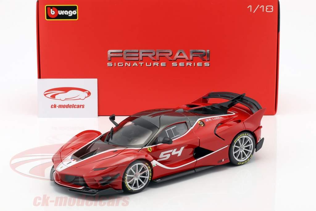 Ferrari FXX-K Evoluzione #54 rød 1:18 Bburago Signature