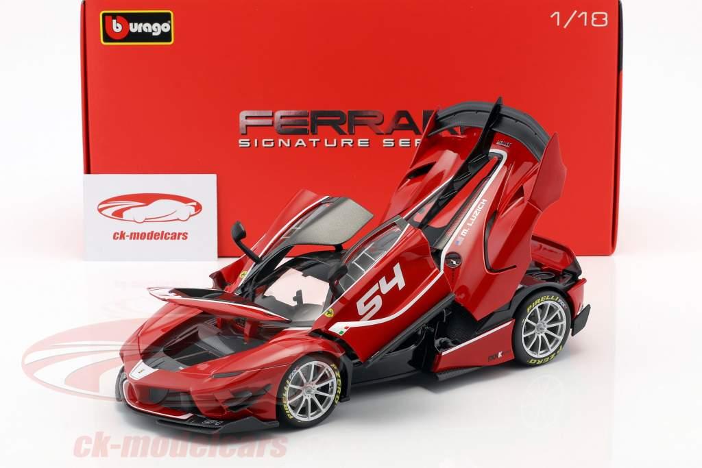 Ferrari FXX-K Evoluzione #54 rojo 1:18 Bburago Signature