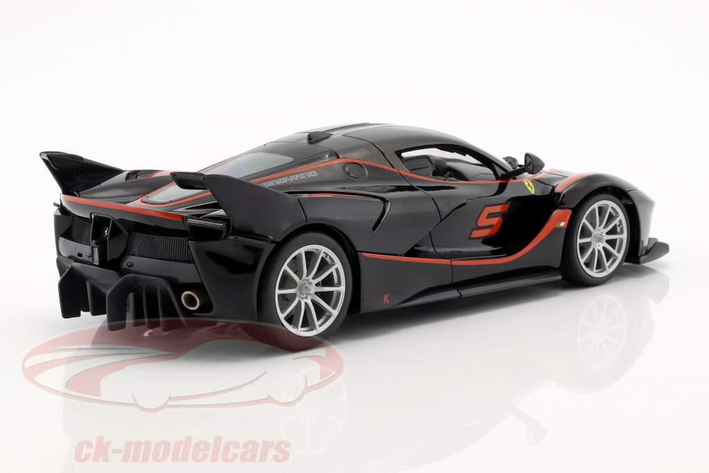 Ferrari FXX-K #5 sort / rød 1:18 Bburago