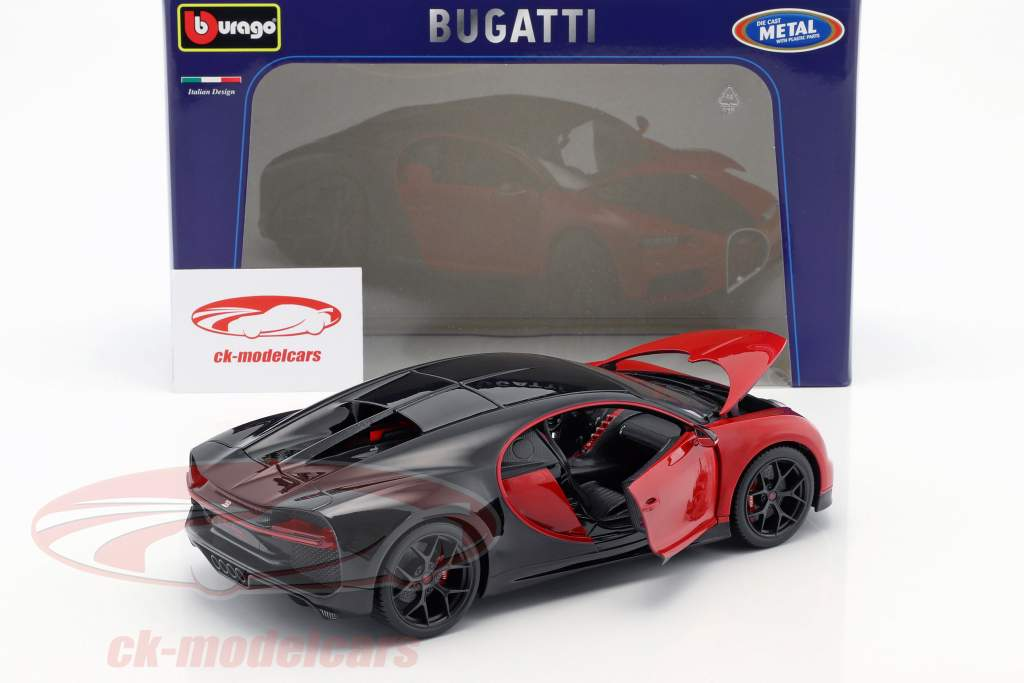 Bugatti Chiron Sport 16 rouge / noir 1:18 Bburago