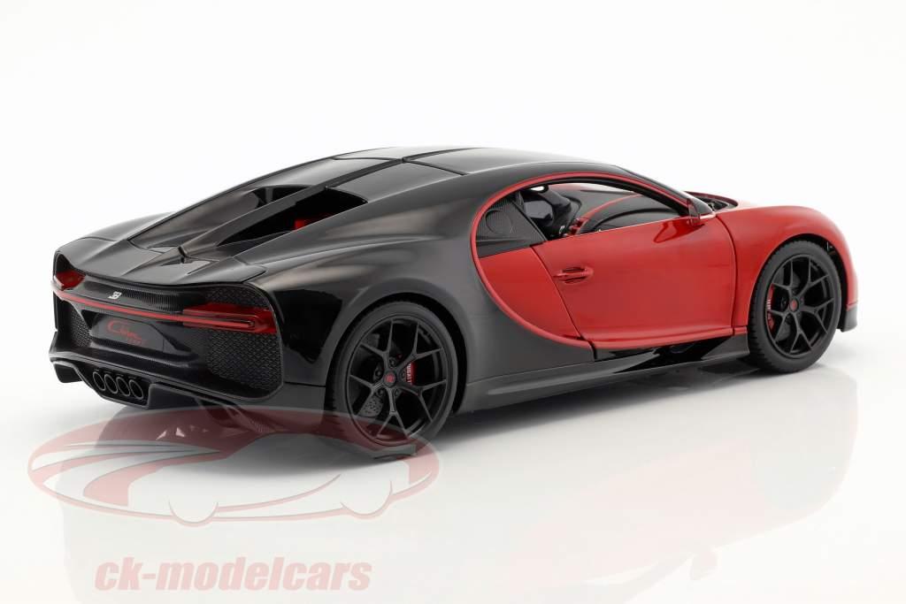 Bugatti Chiron Sport 16 rød / sort 1:18 Bburago