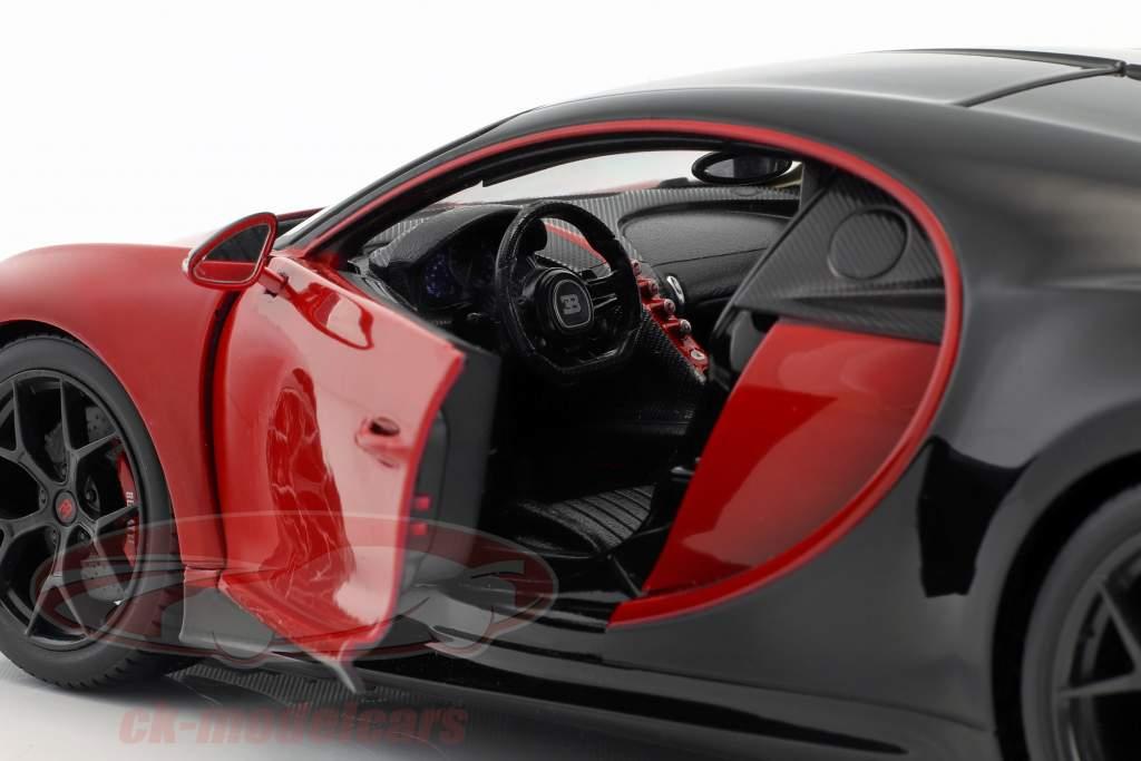 Bugatti Chiron Sport 16 rot / schwarz 1:18 Bburago