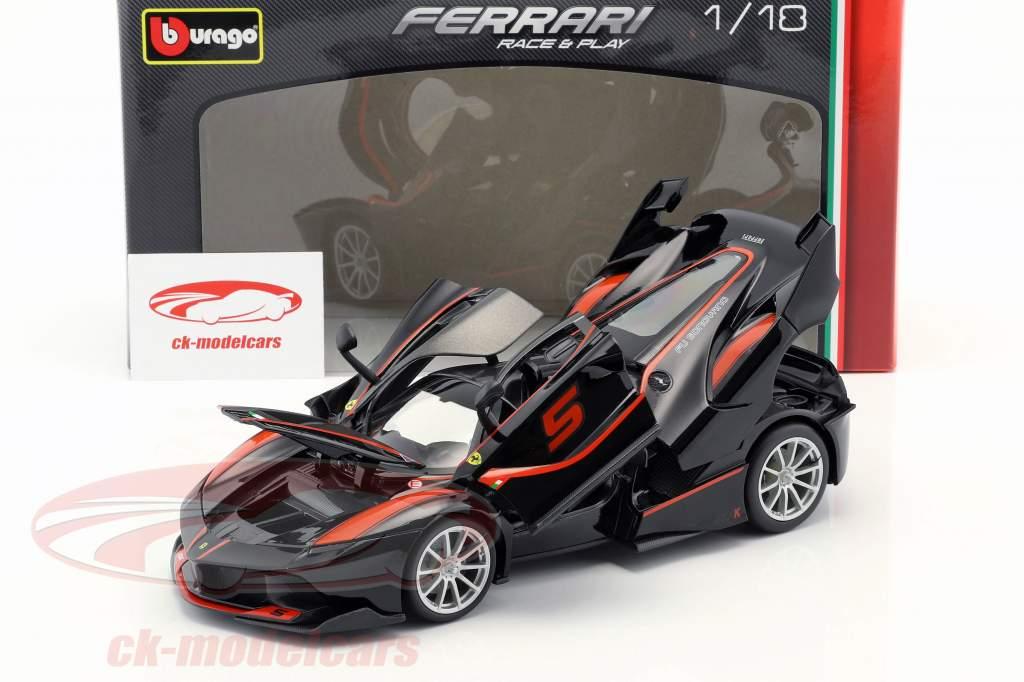 Ferrari FXX-K #5 preto / vermelho 1:18 Bburago