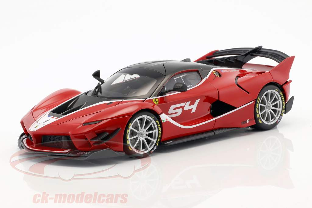Ferrari FXX-K Evoluzione #54 rood 1:18 Bburago Signature