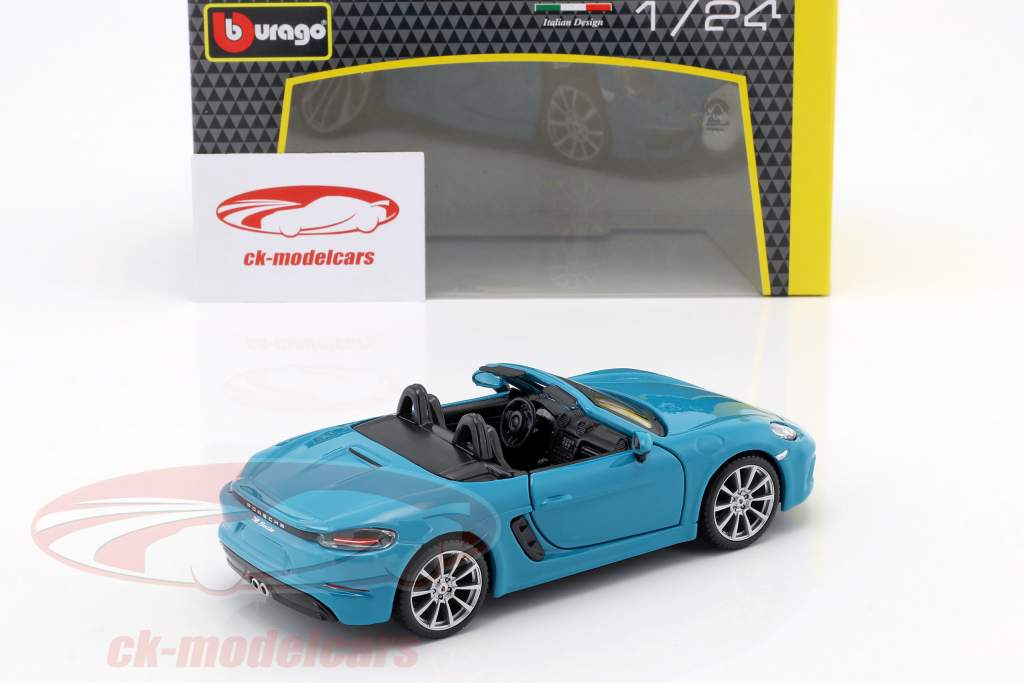 Porsche 718 (982) Boxster Baujahr 2016 blau 1:24 Bburago