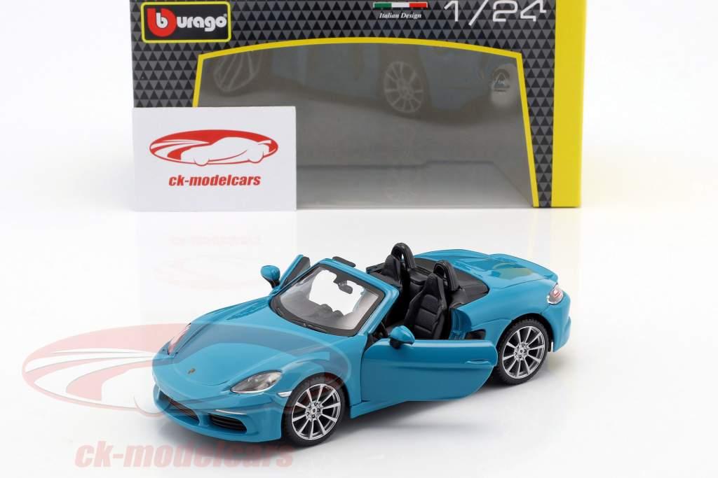 Porsche 718 (982) Boxster año de construcción 2016 azul 1:24 Bburago
