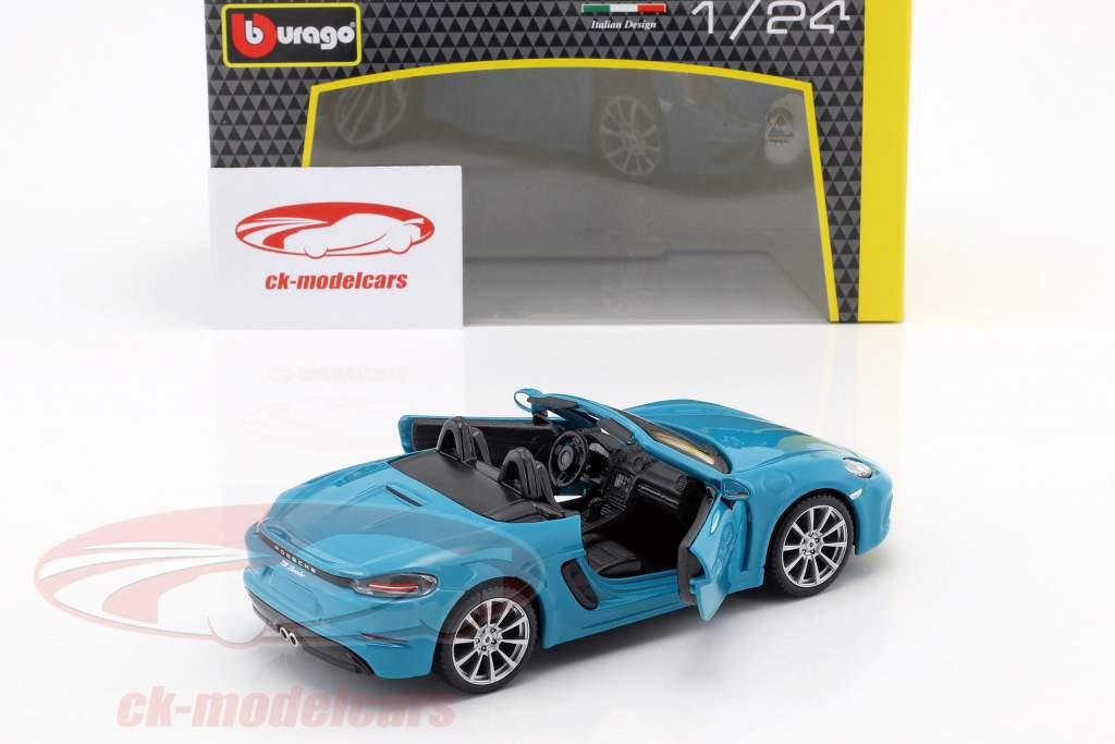 Porsche 718 (982) Boxster année de construction 2016 bleu 1:24 Bburago