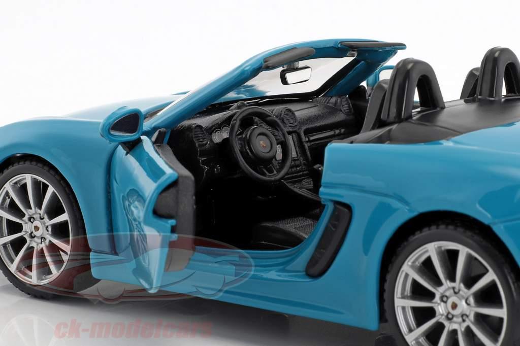 Porsche 718 (982) Boxster year 2016 blue 1:24 Bburago