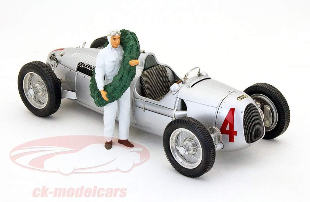 race auto bestuurder figuur met laurier krans 1:18 Figutec Figuren
