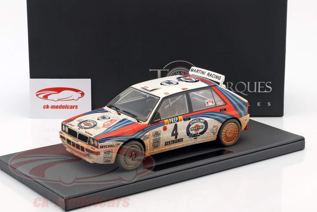 Lancia Delta HF Integrale #4 vencedor Rallye Monte Carlo 1992 Dirty Version 1:18 TopMarques