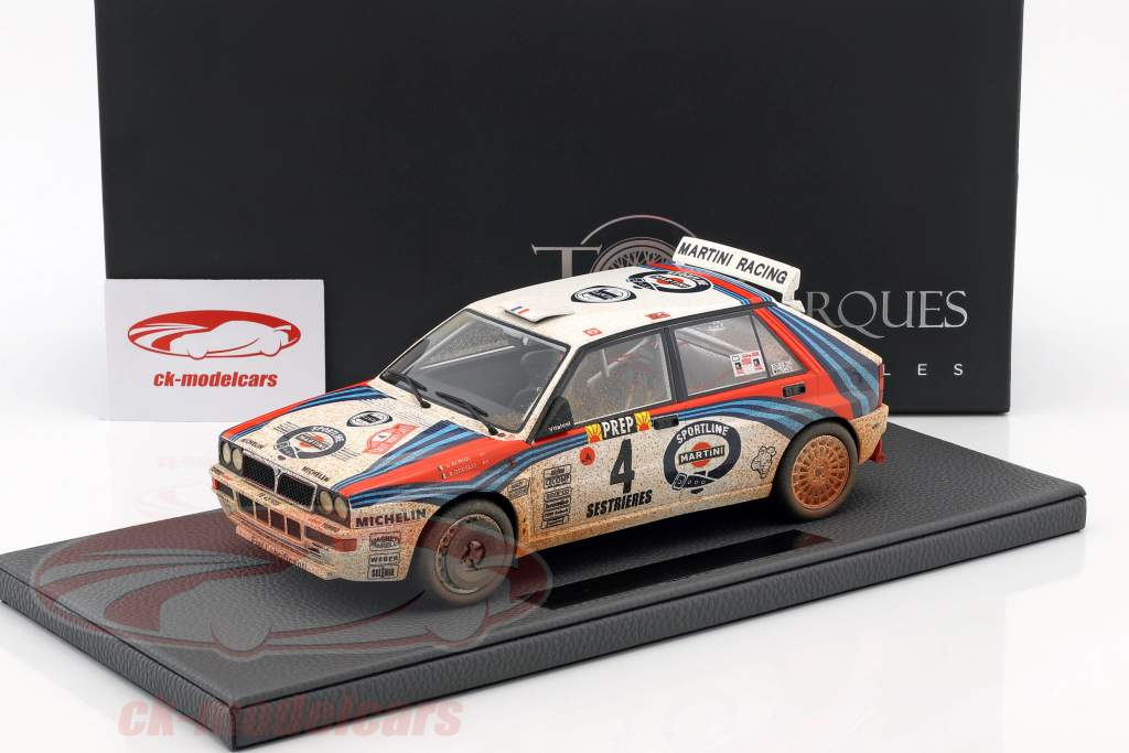 Lancia Delta HF Integrale #4 Winner Rallye Monte Carlo 1992 Dirty Version 1:18 TopMarques