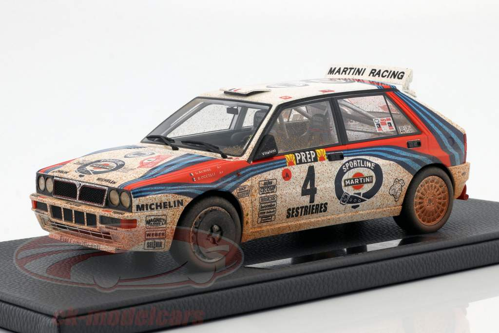 Lancia Delta HF Integrale #4 winnaar Rallye Monte Carlo 1992 Dirty Version 1:18 TopMarques