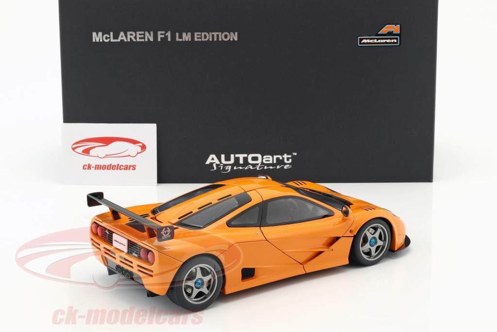 McLaren F1 LM Edizione Anno 1995 Arancione 1:18 AUTOart