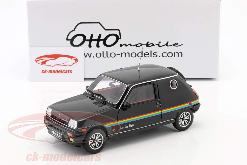 Renault 5 Le Car Van Opførselsår 1980 sort 1:18 OttOmobile