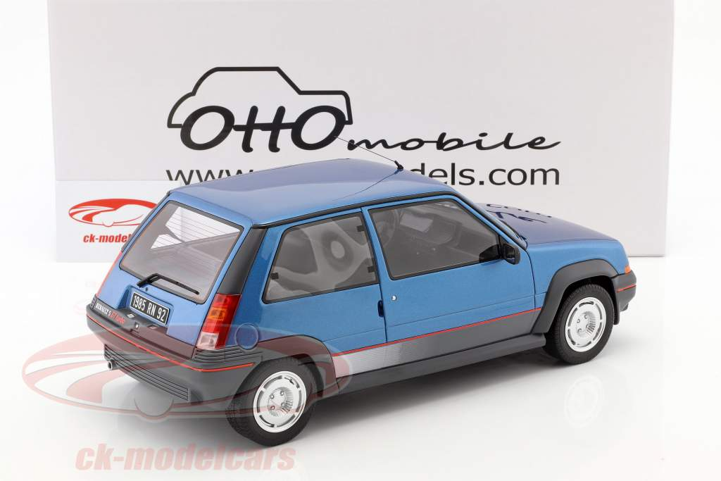 Renault Super 5 GT Turbo MK1 ano de construção 1986 azul claro 1:12 OttOmobile