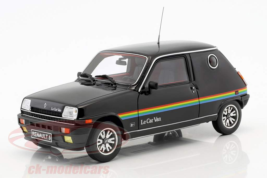 Renault 5 Le Car Van year 1980 black 1:18 OttOmobile