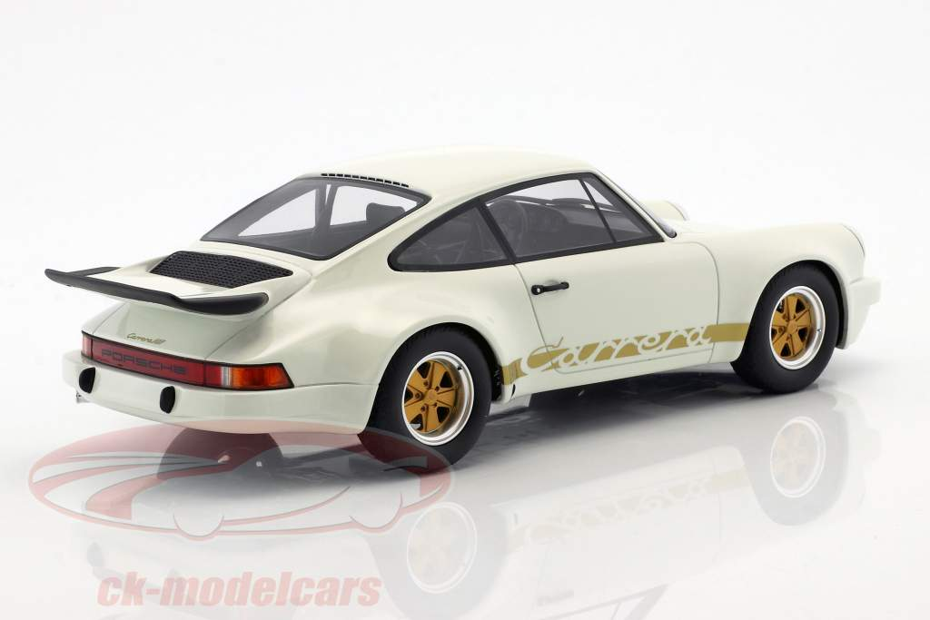 Porsche 911 3.0 RS year 1974 grand prix white 1:18 GT-Spirit