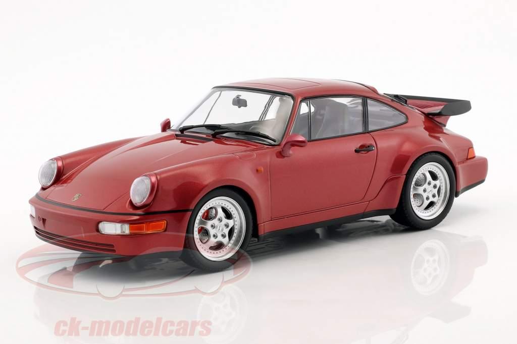 Porsche 911 (964) Turbo año de construcción 1990 rojo metálico 1:18 Minichamps