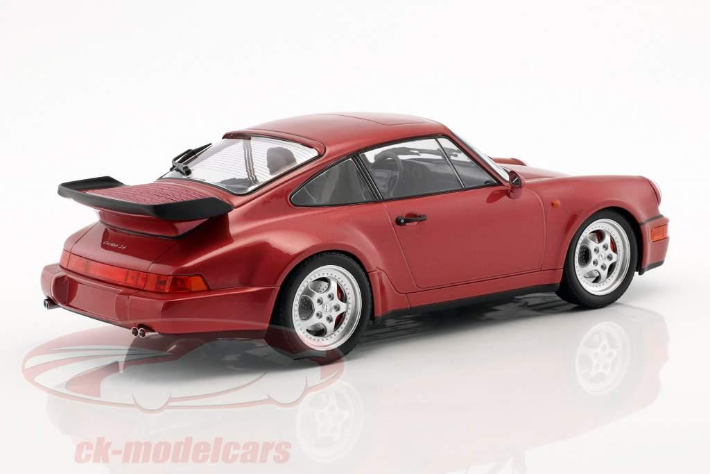 Porsche 911 (964) Turbo Bouwjaar 1990 rood metalen 1:18 Minichamps