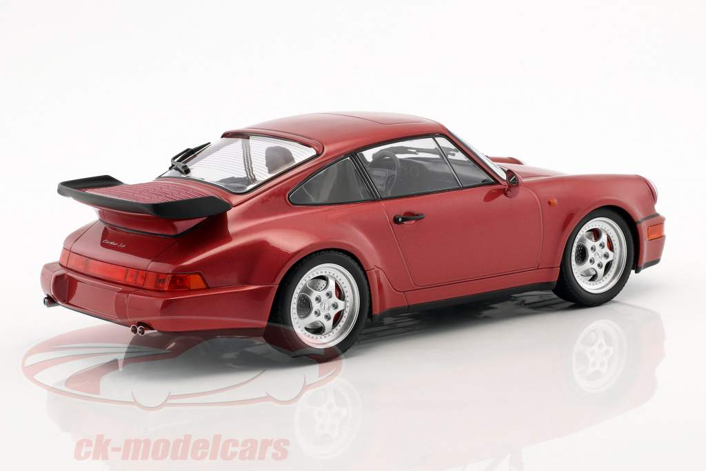 Porsche 911 (964) Turbo Opførselsår 1990 red metallisk 1:18 Minichamps