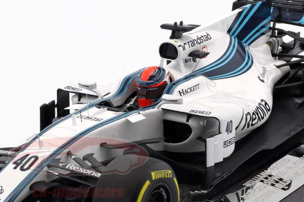 Robert Kubica Williams FW40 #40 test auto Abu Dhabi GP F1 2017 1:18 Minichamps