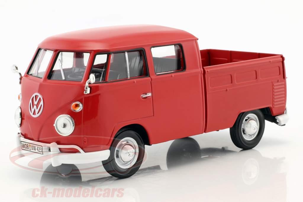 Volkswagen VW Type 2 double cabine rouge 1:24 MotorMax