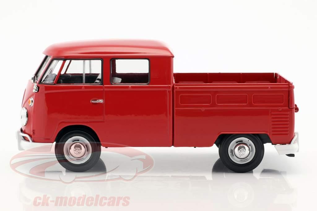 Volkswagen VW Type 2 cabina doppia rosso 1:24 MotorMax