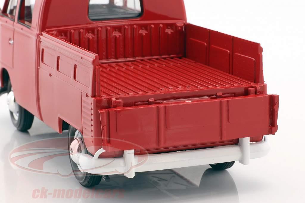 Volkswagen VW Type 2 cabine dupla vermelho 1:24 MotorMax