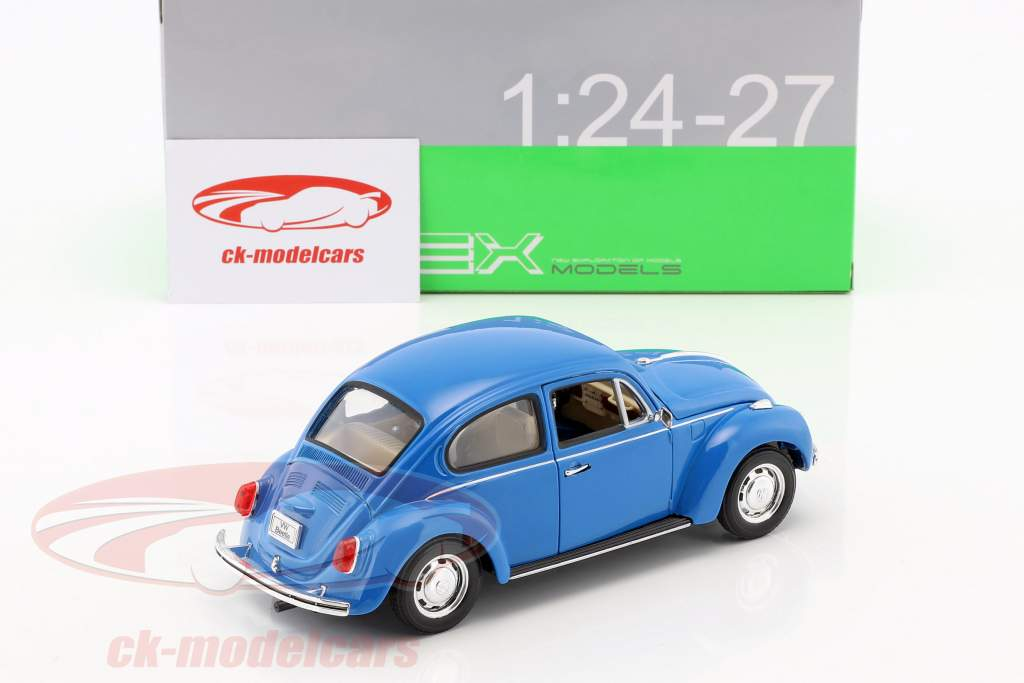 Volkswagen VW Beetle Anno 1959 blu 1:24 Welly