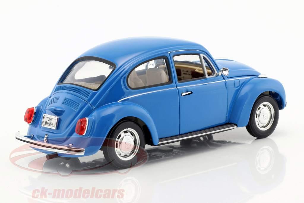 Volkswagen VW Beetle Année 1959 bleu 1:24 Welly