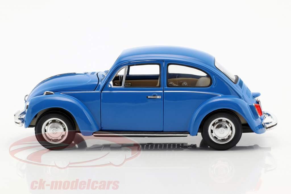 Volkswagen VW Beetle Año 1959 azul 1:24 Welly