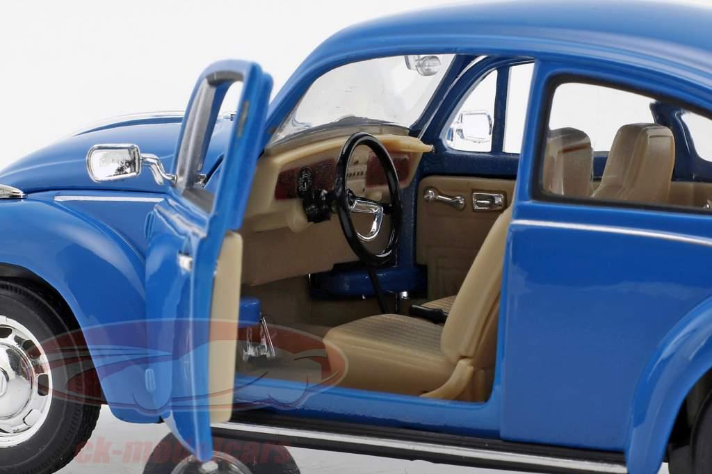 Volkswagen VW Beetle År 1959 blå 1:24 Welly