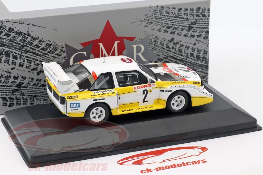 Audi Quattro Sport E2 #2 4ª Rallye Monte Carlo 1986 Röhrl, Geistdörfer 1:43 CMR