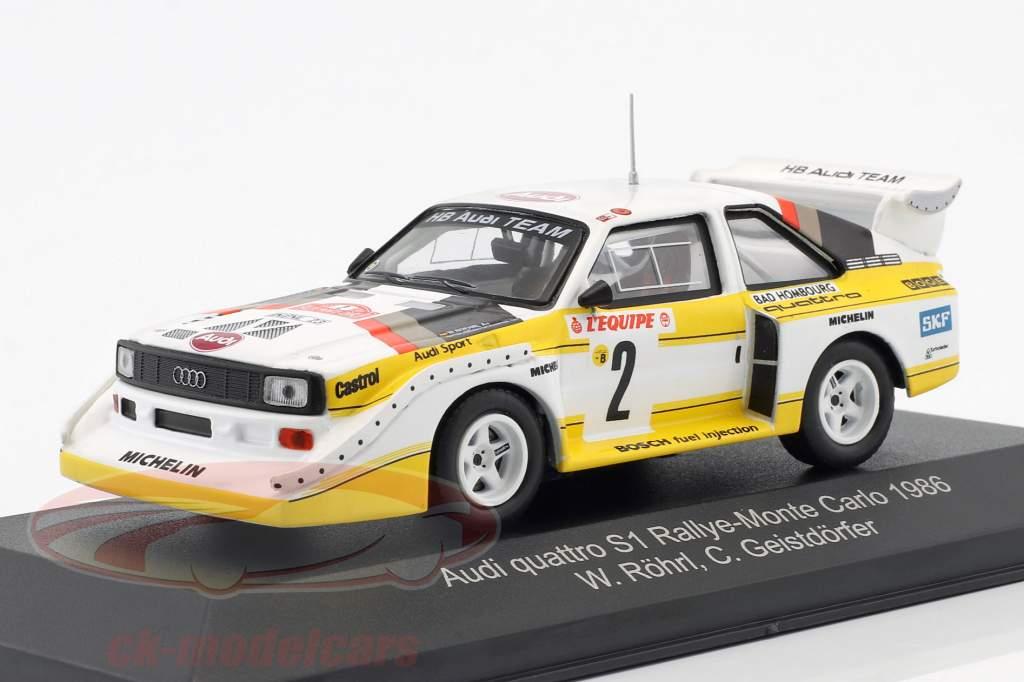 Audi Quattro Sport E2 #2 4e Rallye Monte Carlo 1986 Röhrl, Geistdörfer 1:43 CMR