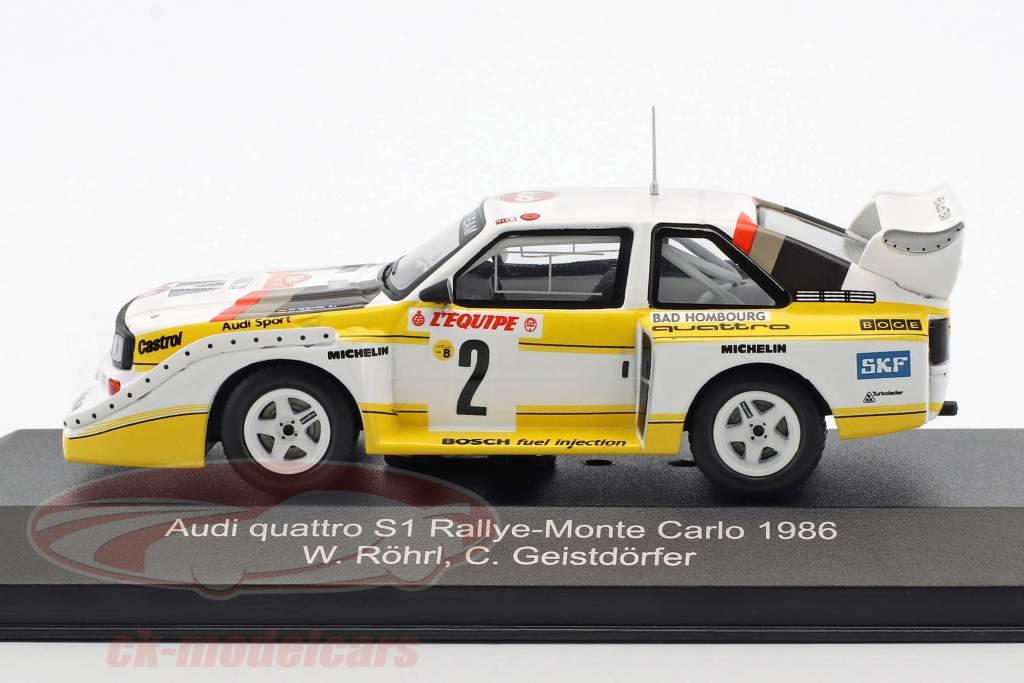 Audi Quattro Sport E2 #2 cuarto Rallye Monte Carlo 1986 Röhrl, Geistdörfer 1:43 CMR