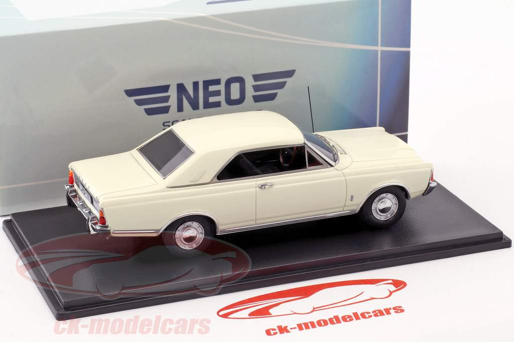 Ford Taunus P7b 17M coupe year 1968 white 1:43 Neo