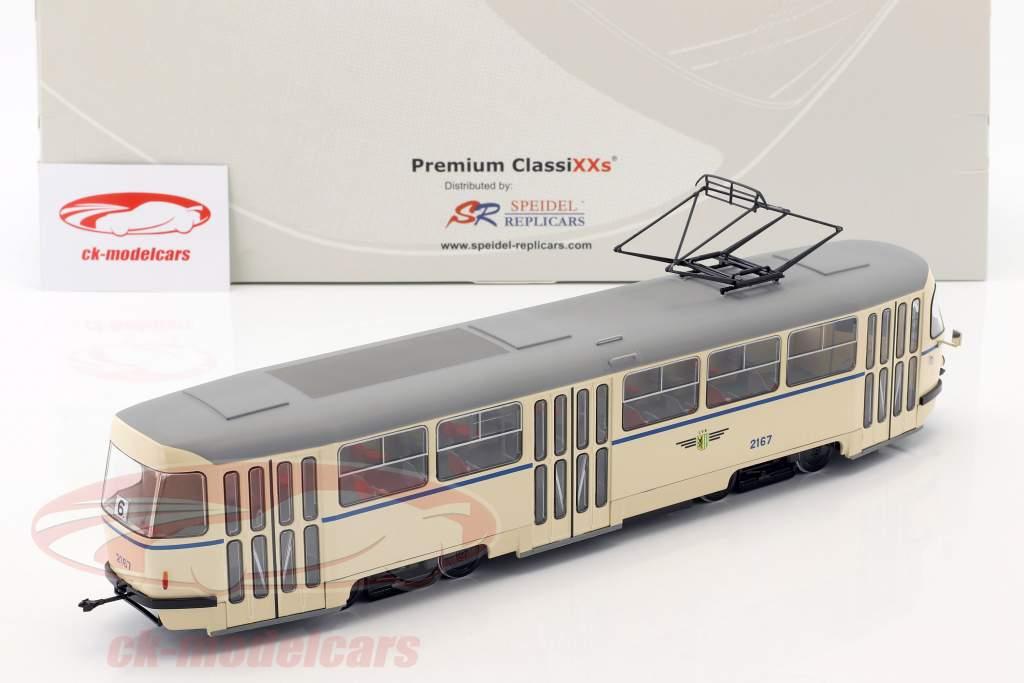 Tatra T4 tranvía Leipziger Verkehrsbetriebe beige 1:43 Premium ClassiXXs