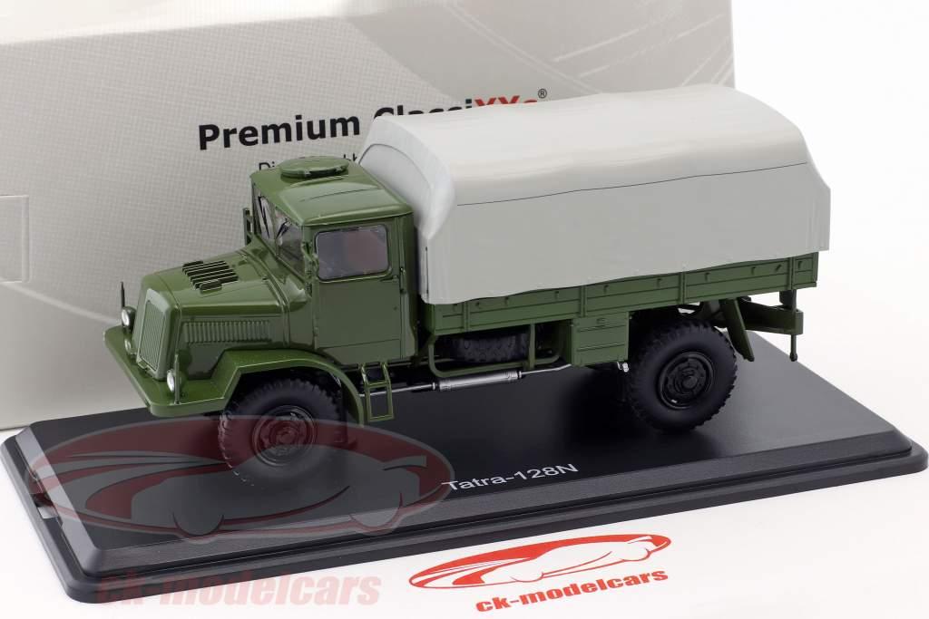 Tatra 128N camion con telone anno di costruzione 1951 oliva / grigio 1:43 Premium ClassiXXs