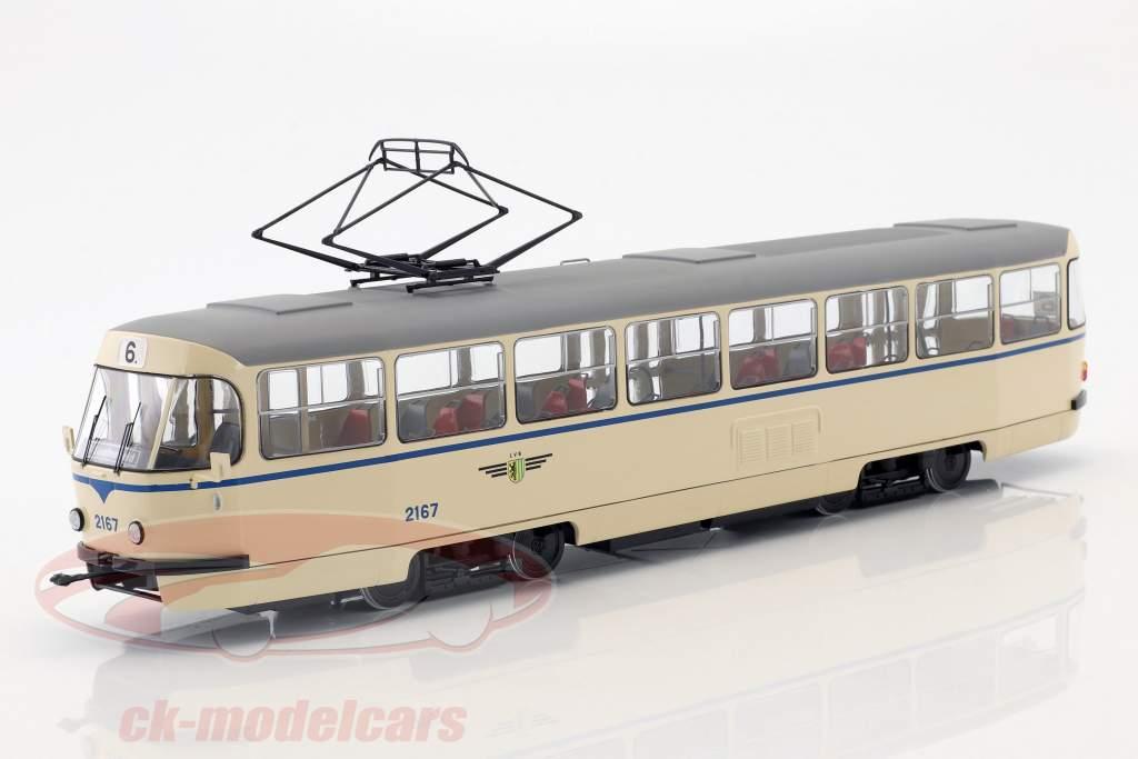 Tatra T4 tram Leipziger Verkehrsbetriebe beige 1:43 Premium ClassiXXs