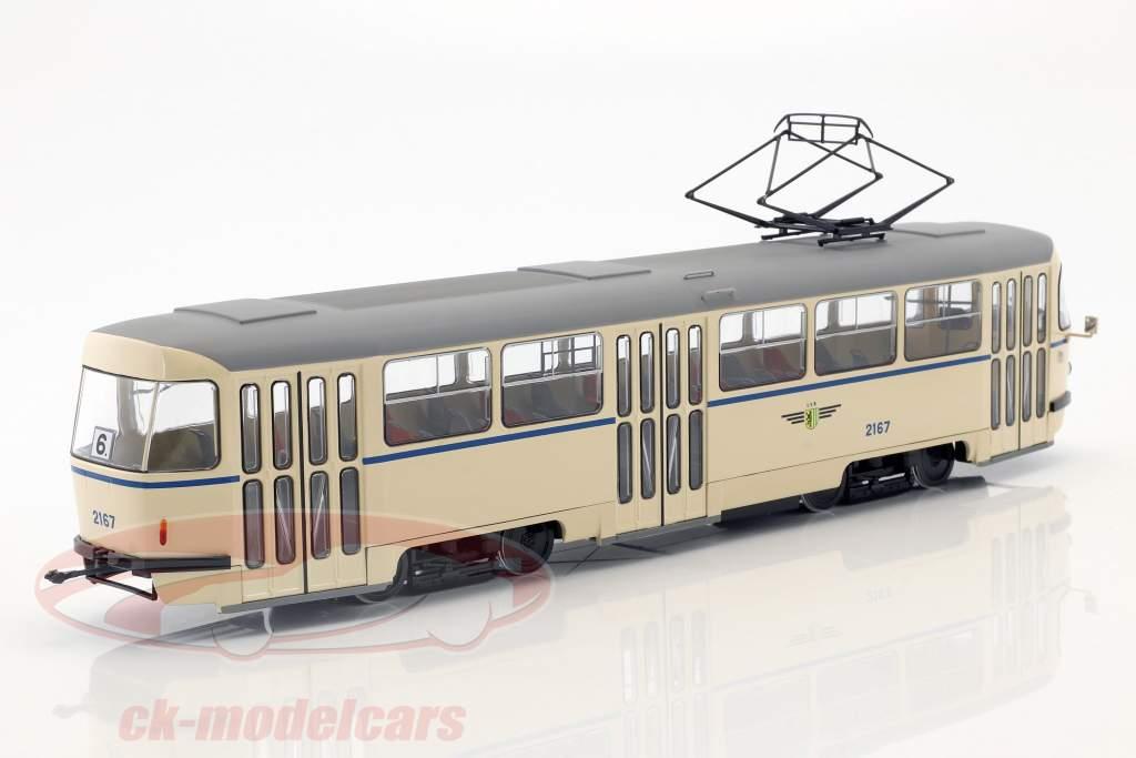 Tatra T4 sporvogn Leipziger Verkehrsbetriebe beige 1:43 Premium ClassiXXs